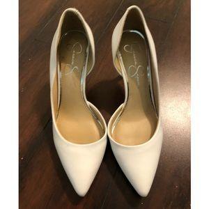 Jessica Simpson | White Leather Heels | 8.5M